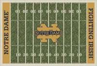Notre Dame Fighting Irish College Football Field Rug