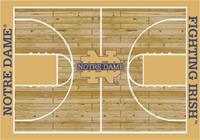 Notre Dame Fighting Irish College Basketball Court Rug