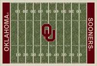Oklahoma Sooners College Football Field Rug