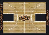Oklahoma State Cowboys College Basketball Court Rug