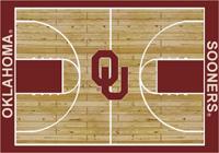 Oklahoma Sooners College Basketball Court Rug