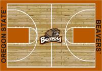 Oregon State Beavers College Basketball Court Rug