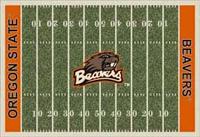 Oregon State Beavers College Football Field Rug