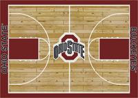 Ohio State Buckeyes College Basketball Court Rug