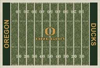 Oregon Ducks College Football Field Rug