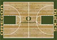 Oregon Ducks College Basketball Court Rug