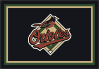 Baltimore Orioles MLB Spirit Rug Cut Pile Area Rug (single logo only)