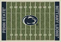Penn State Nittany Lions Rug College Football Field Rug