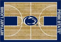 Penn State Nittany Lions Rug College Basketball Court Rug