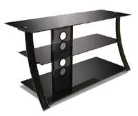 High Gloss Black Flat Panel Audio Video System