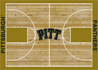 Pittsburgh Panthers College Basketball Court Rug
