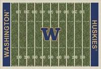 Washington Huskies College Football Field Rug
