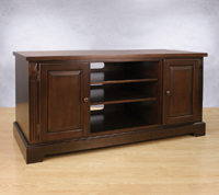 Espresso Finish Wood Audio Video Cabinet