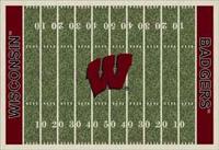 Wisconsin Badgers College Football Field Rug