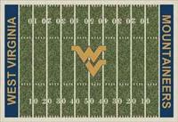 West Virginia Mountaineers College Football Field Rug