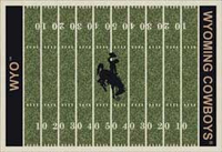 Wyoming Cowboys College Football Field Rug