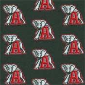 Alabama Crimson Tide College Team Rug (repeated logo)