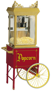 Bass Ind. Popcorn Machines: Antique Popper with or without Cart