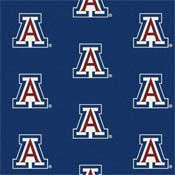 Arizona Wildcats College Team Logo Rug (repeated logo)