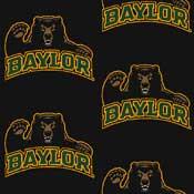 Baylor Bears College Team Logo Rug (repeated logo)