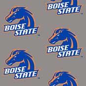 Boise State Broncos College Team Logo Rug (repeated logo)