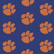Clemson Tigers College Team Logo Rug (repeated pattern)