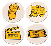 Bass Ind. Theatrical Stoneware Coasters