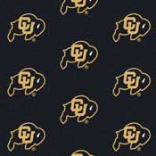 Colorado Buffaloes College Team Logo Rug (repeated logo)