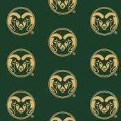 Colorado State Rams College Team Logo Rug (repeated logo)
