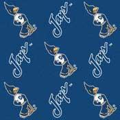 Creighton Bluejays College Team Logo Rug (repeated logo)