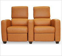 Bass Ind. Deco Penthouse Sofa: Leather or Velour
