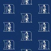 Duke Blue Devils College Team Logo Rug (repeated logo)
