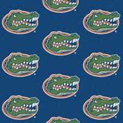 Florida Gators College Team Logo Rug (repeated logo)