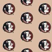 Florida State Seminoles College Team Logo Rug (repeated logo)