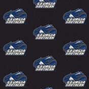 Georgia Southern Eagles College Team Logo Rug (repeated pattern)