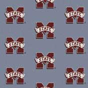 Mississippi State Bulldogs College Team Logo Rug (repeated logo)