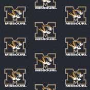 Missouri Tigers College Team Logo Rug (repeated logo)