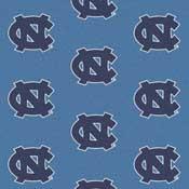 North Carolina Tar Heels College Team Logo Rug (repeated logo)