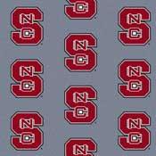 North Carolina State Wolfpack College Team Logo Rug (repeated logo)