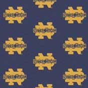 Notre Dame Fighting Irish College Team Logo Rug (repeated logo)