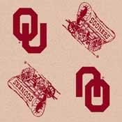 Oklahoma Sooners College Team Logo Rug (repeated logo)