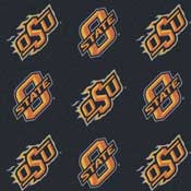 Oklahoma State Cowboys College Team Logo Rug (repeated logo)