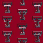 Texas Tech Red Raiders College Team Logo Rug (repeated logo)
