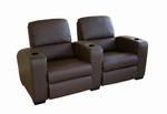 Row of 2 - Showtime Theatre Sectional - Brown