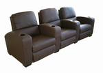 Row of 3 - Showtime Theatre Sectional - Brown