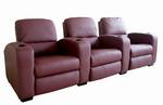 Row of 3 - Showtime Theatre Sectional - Burgundy