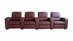 Row of 4 - Showtime Theatre Sectional - Burgundy