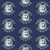 Connecticut Huskies College Team Logo Rug (repeated logo)